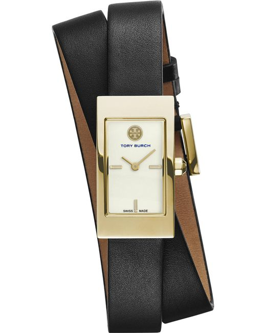 Tory Burch | White The Buddy Signature Double-wrap Gold-toned Stainless Steel Watch | Lyst