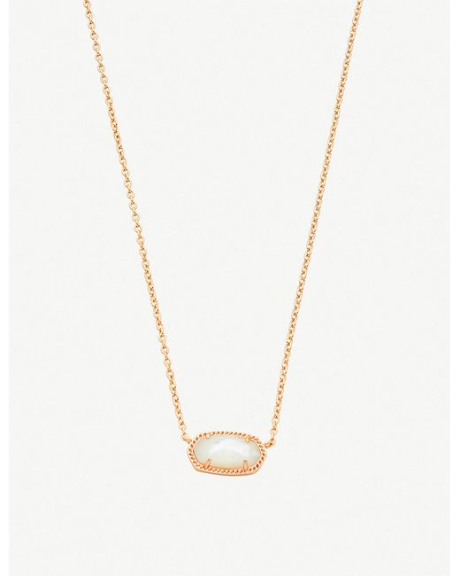 Kendra Scott - White Elisa 14ct Gold-plated And Ivory Mother-of-pearl Necklace - Lyst