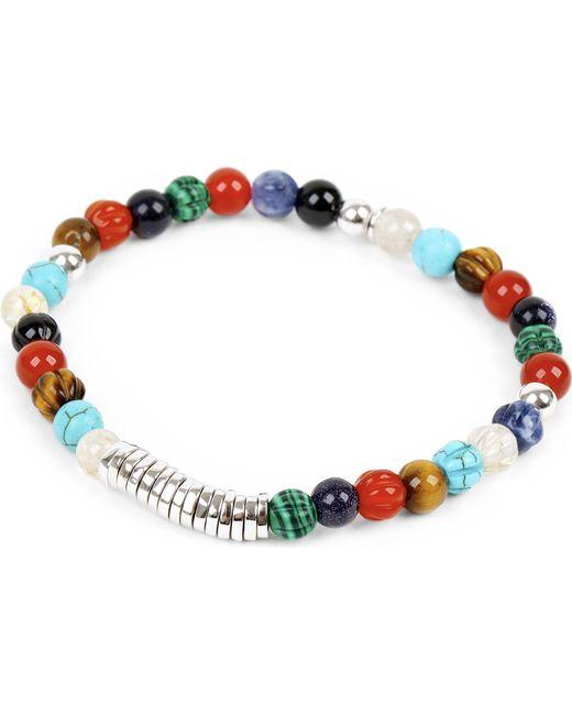 Tateossian - Multicolor Silver Disc Beaded Bracelet for Men - Lyst