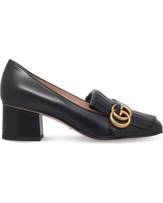 Gucci - Black Marmont Leather Pumps - Lyst