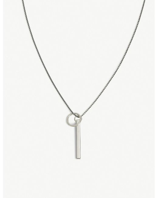 Tom Wood - Metallic Pendant Ring Chain for Men - Lyst