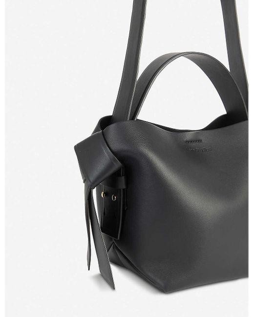 Acne Black Musubi Mini Leather Crossbody Bag