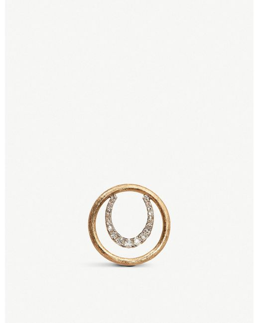 Annoushka - Metallic Horseshoe 18ct Yellow Gold And Diamond Hoopla - Lyst