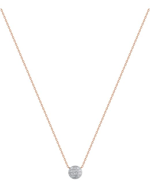 The Alkemistry | Metallic Lauren Joy Mini 14ct Rose-gold And Diamond Necklace | Lyst