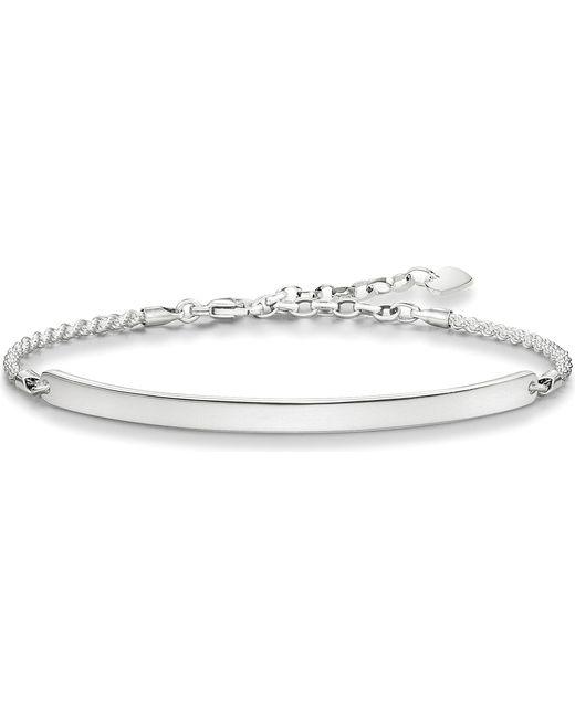 Thomas Sabo - Black Love Bridge Sterling Silver Bracelet - Lyst