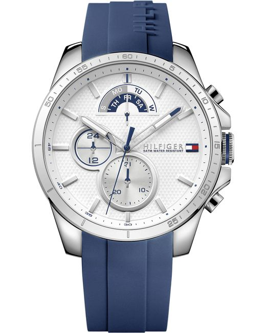 Tommy Hilfiger - Metallic 1791349 Stainless Steel And Rubber Watch - Lyst