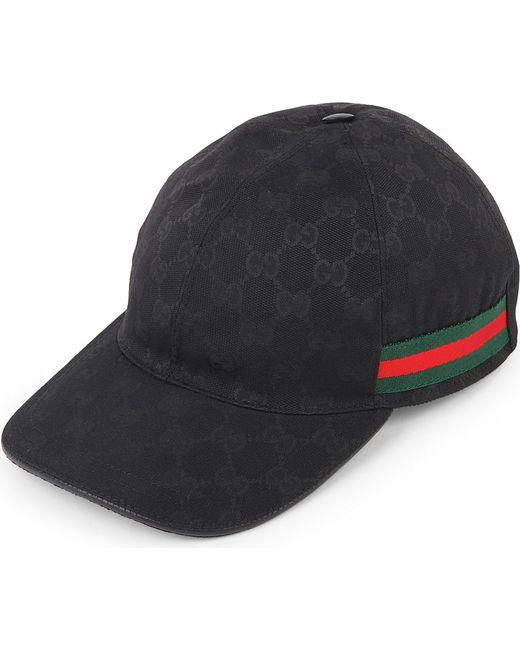 gucci orignal gc baseball cap in black for men black. Black Bedroom Furniture Sets. Home Design Ideas