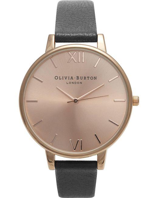 Olivia Burton - Metallic Ladies Big Rose Gold Dial Watch - Lyst