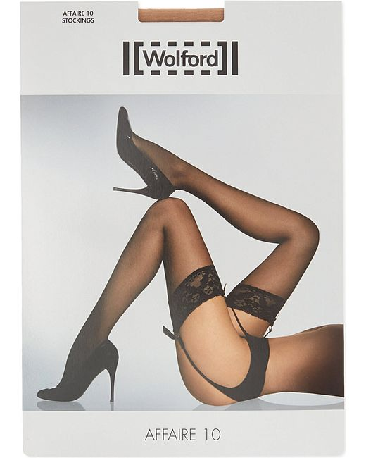 Wolford | Natural Affaire 10 Stockings | Lyst