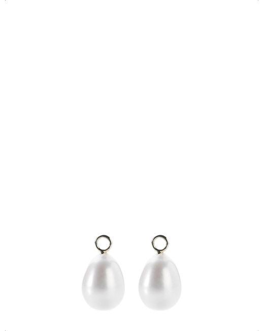 Annoushka | Classic Baroque 18ct White-gold And Pearl Earring Drops | Lyst