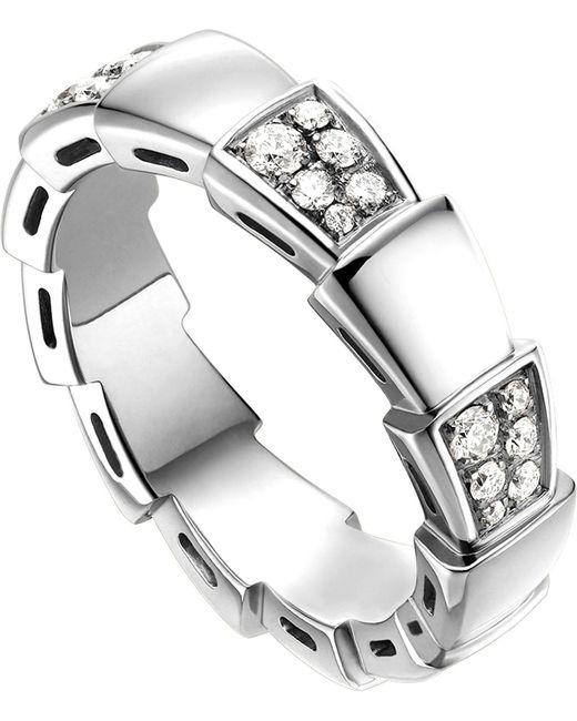 BVLGARI - Metallic Serpenti 18kt White-gold And Diamond Ring - Lyst