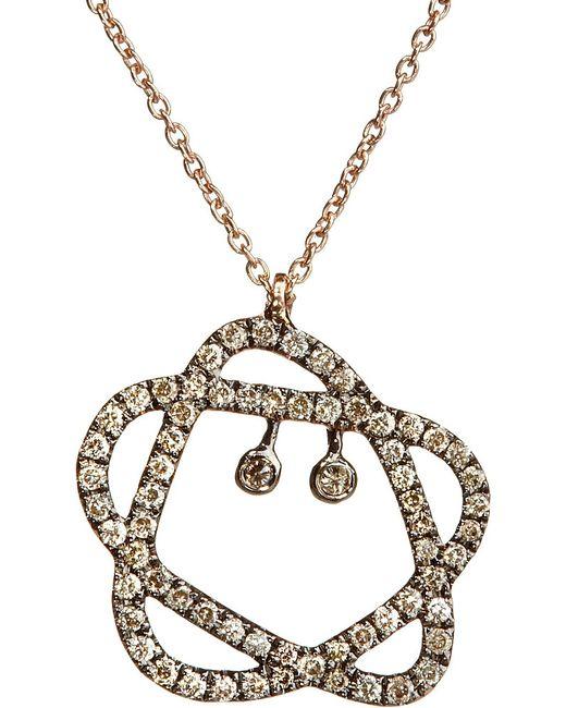 Annoushka | Metallic Sugarplum 18ct Rose-gold And Diamond Pendant Necklace | Lyst