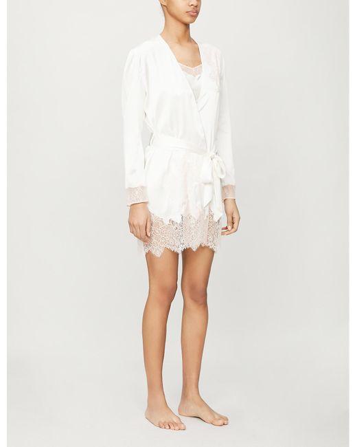 Myla White Alma Silk-blend Robe
