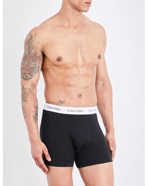 CALVIN KLEIN 205W39NYC - Black Pack Of Three Stretch-cotton Trunks for Men - Lyst