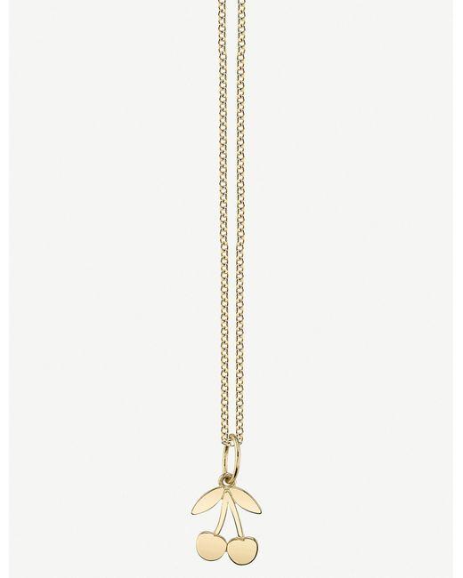 The Alkemistry Metallic Sydney Evan Cherry 14ct Yellow Gold Necklace