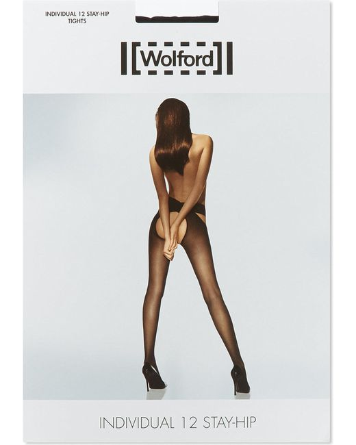 Wolford - Black Individual 12 Stay-hip Tights - Lyst