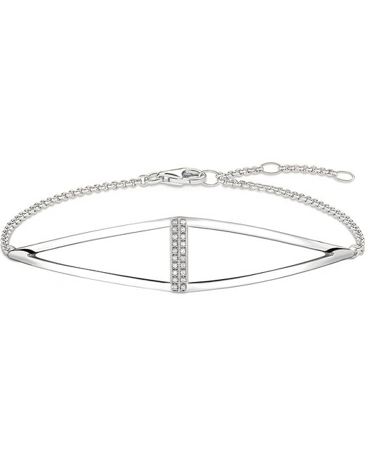 Thomas Sabo - Metallic Triangle Sterling Silver And Diamond Bracelet - Lyst