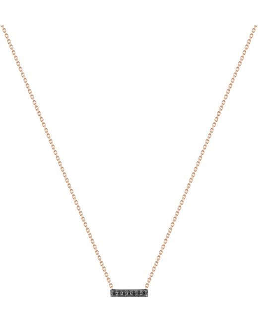 The Alkemistry   Metallic 14ct Rose-gold And Black Diamond Necklace   Lyst