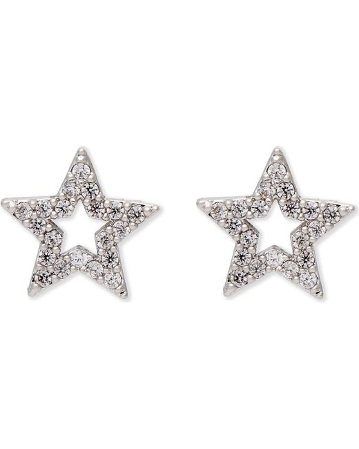 Astrid & Miyu - Metallic New Tricks Rhodium Star Earrings - Lyst