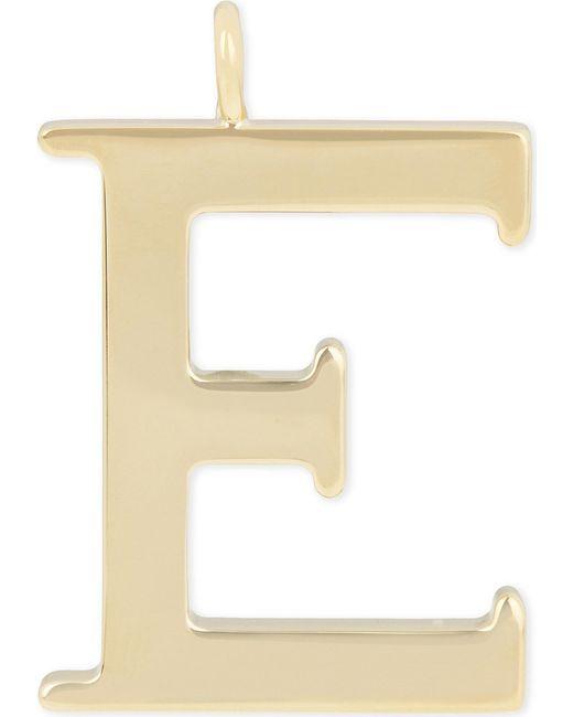 Chloé | Metallic Alphabet E Pendant | Lyst