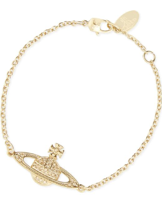 Vivienne Westwood Metallic Mini Bas Relief Chain Gold-plated Bracelet