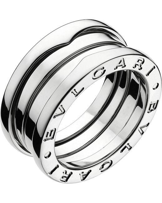 BVLGARI - Metallic B.zero1 Three-band White Gold Ring - Lyst