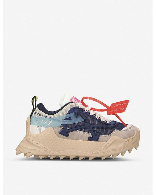 Off-White c/o Virgil Abloh Blue Odsy-1000 Leather Trainers