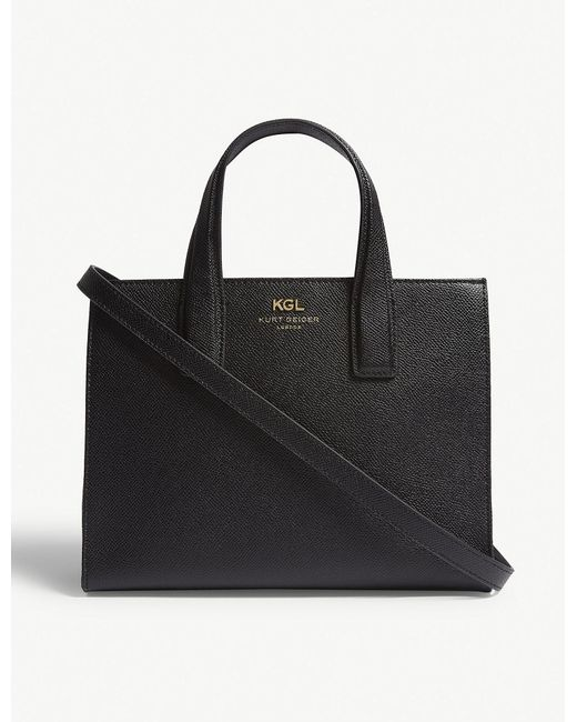 Kurt Geiger - Black Practical Saffiano Leather Tote Bag - Lyst