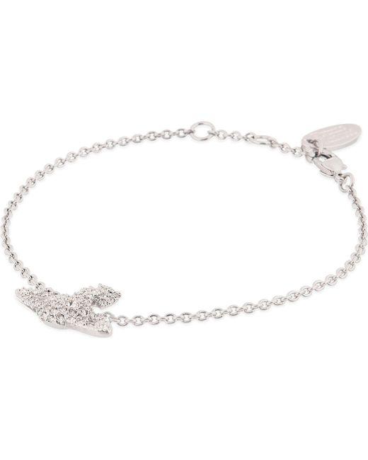 Vivienne Westwood | Metallic Grace Bas Relief Pavé Orb Bracelet | Lyst