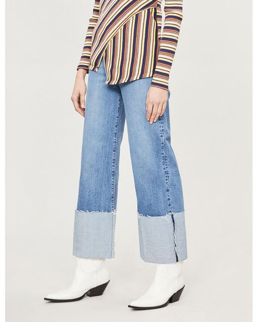 670d7ac6f8c Lyst - Nobody Denim Milla Super High-rise Faded Wide-leg Jeans in Blue
