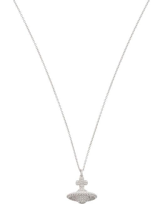 Vivienne Westwood - Black Grace Small Pavé Orb Necklace - Lyst