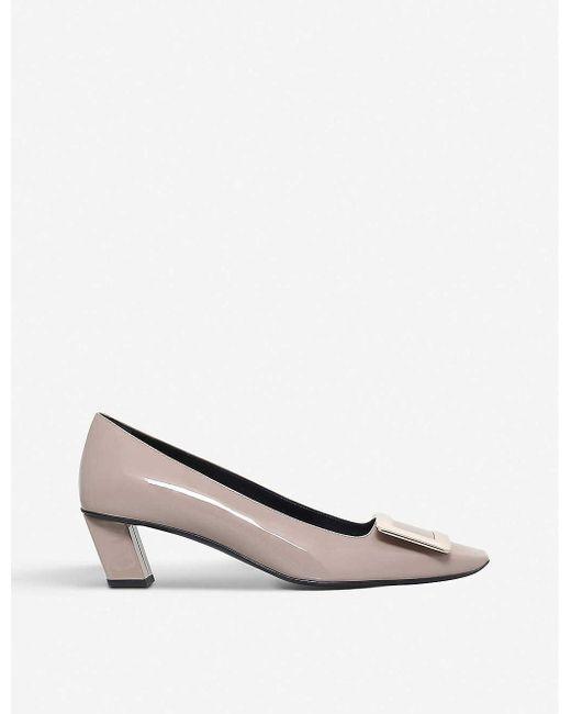 Roger Vivier Black Belle Vivier Patent-leather Court Shoes