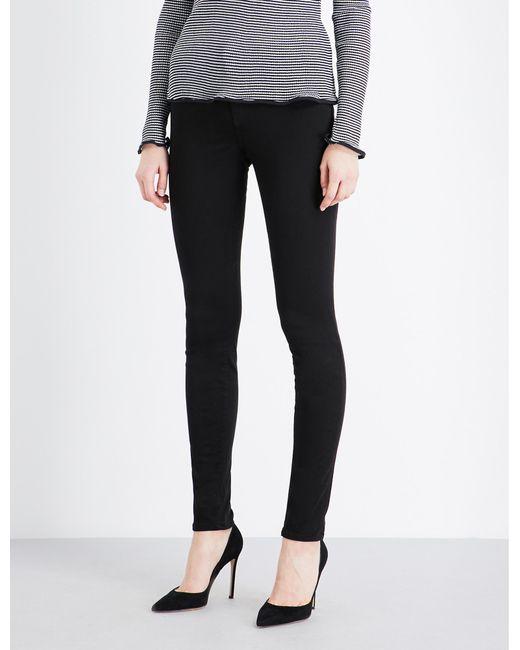 J Brand Ladies Black Skinny Mid-rise Jeans