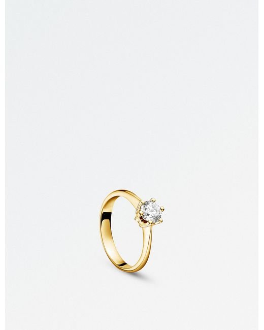 BUCHERER JEWELLERY - Solitaire Heaven 18ct Yellow Gold And Diamond Ring - Lyst