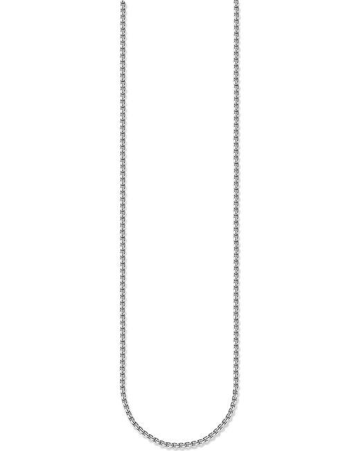 Thomas Sabo - Metallic Venezia Blackened Sterling Silver Chain Necklace - Lyst