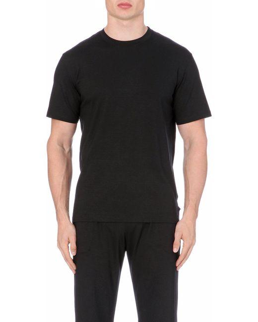 Derek Rose   Black Basel Stretch-jersey T-shirt for Men   Lyst