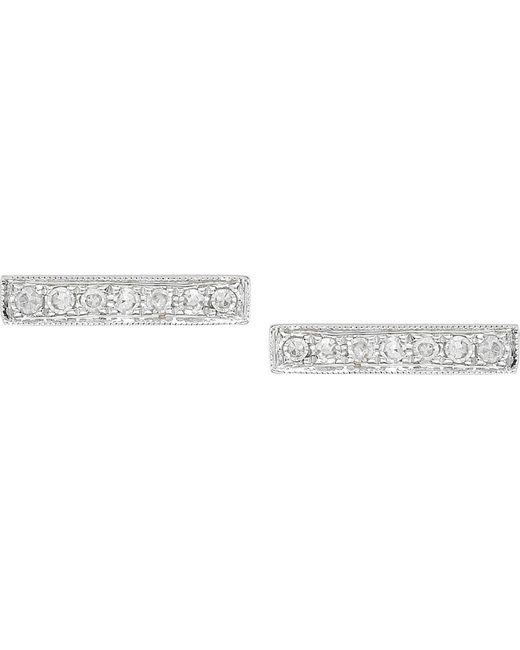 The Alkemistry | Metallic 14ct White-gold And Diamond Bar Earrings | Lyst