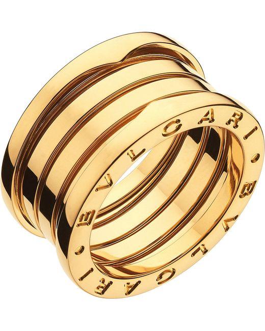 BVLGARI - Metallic B.zero1 Three-band 18ct Yellow-gold Ring - For Women - Lyst