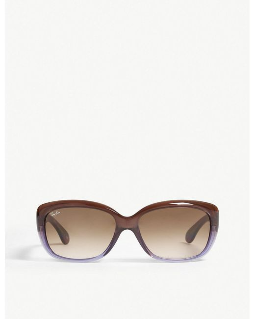 92ea3d8ad9 Lyst - Ray-Ban Rb4101 Jackie Ohh Rectangle-frame Sunglasses in Brown