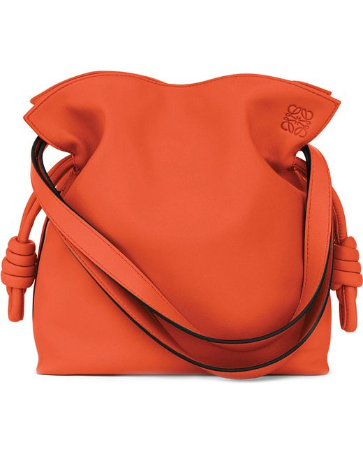 Loewe | Red 'small Flamenco Knot' Calfskin Leather Bag | Lyst