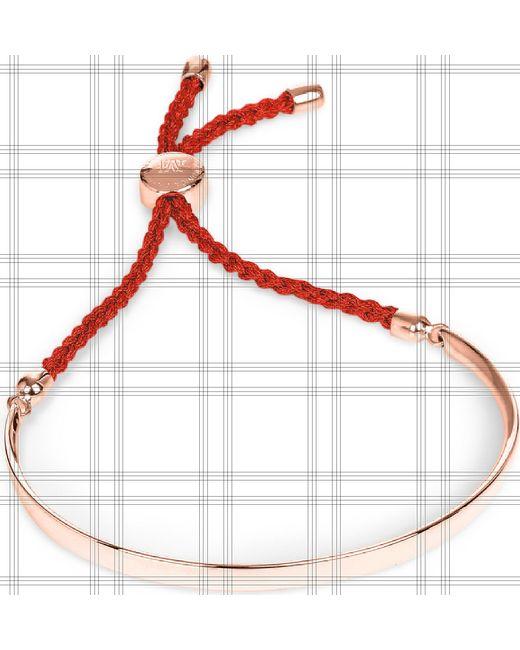 Monica Vinader Black Fiji 18ct Rose Gold-plated Friendship Bracelet