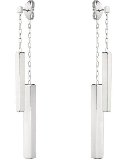 Georg Jensen   Metallic Aria Double Bar Sterling Silver Earrings   Lyst
