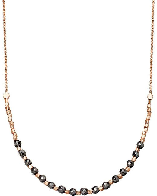 Astley Clarke | Metallic Hematite Detail 18ct Rose Gold-plated Necklace | Lyst