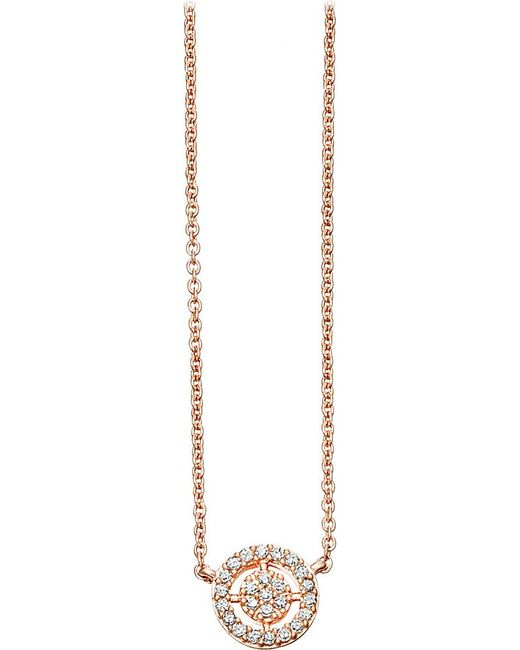 Astley Clarke | Metallic Mini Icon Aura 14ct Rose-gold And Diamond Pendant Necklace | Lyst