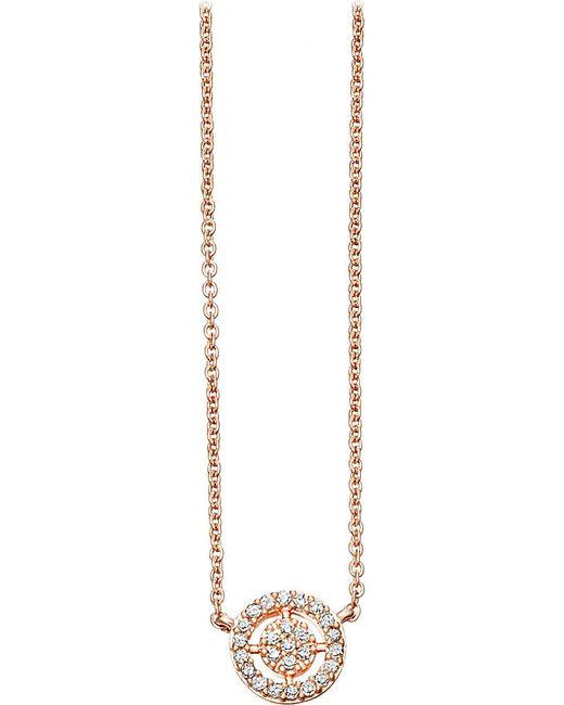 Astley Clarke   Metallic Mini Icon Aura 14ct Rose-gold And Diamond Pendant Necklace   Lyst