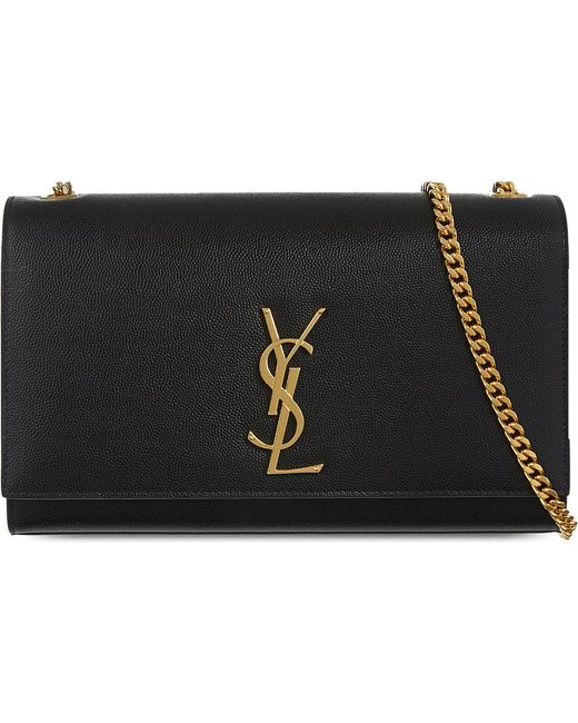 Saint Laurent | Black Monogram Medium Leather Shoulder Bag | Lyst