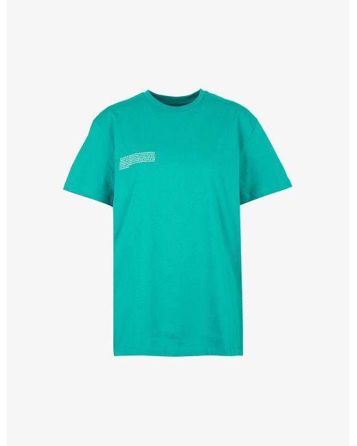 PANGAIA Green Text-print Organic-cotton T-shirt