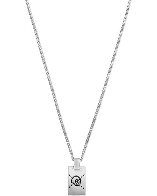 Gucci   Metallic Ghost Sterling Silver Skull Necklace   Lyst