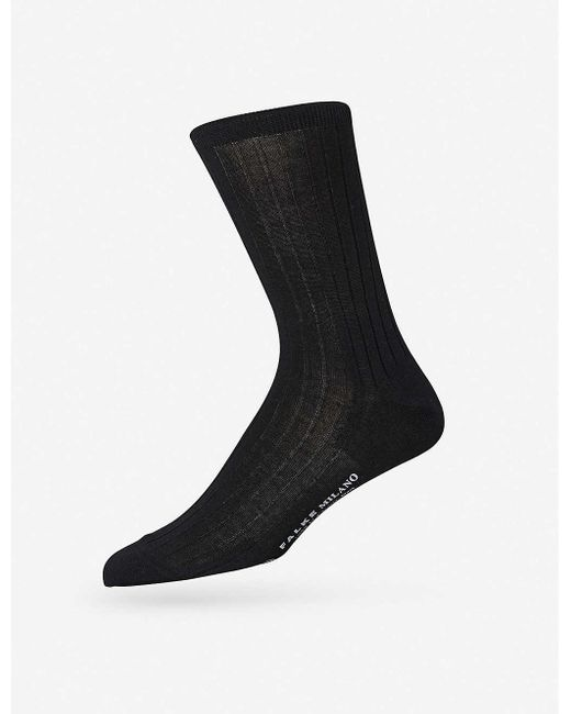 Falke Men's Black Milano Socks for men