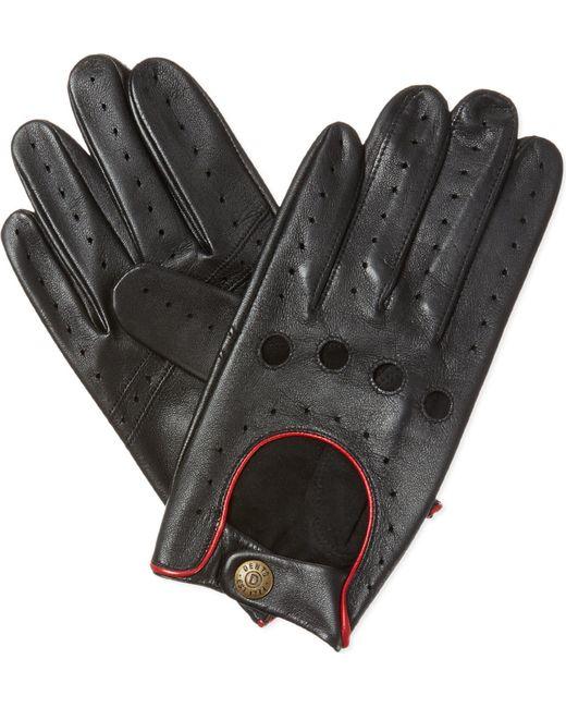 Dents - Black Leather Driving Gloves for Men - Lyst